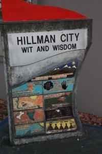 Hillman City sign