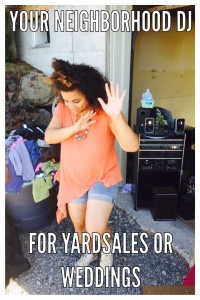 DJ at yard sale